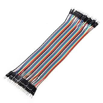 40 cables de puente macho a macho para Arduino (20 cm, 2,54 mm)