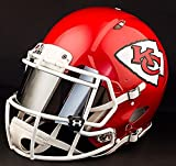 Riddell Speed KANSAS CITY CHIEFS NFL REPLICA Football Helmet with MIRRORED Eye Shield/Visor