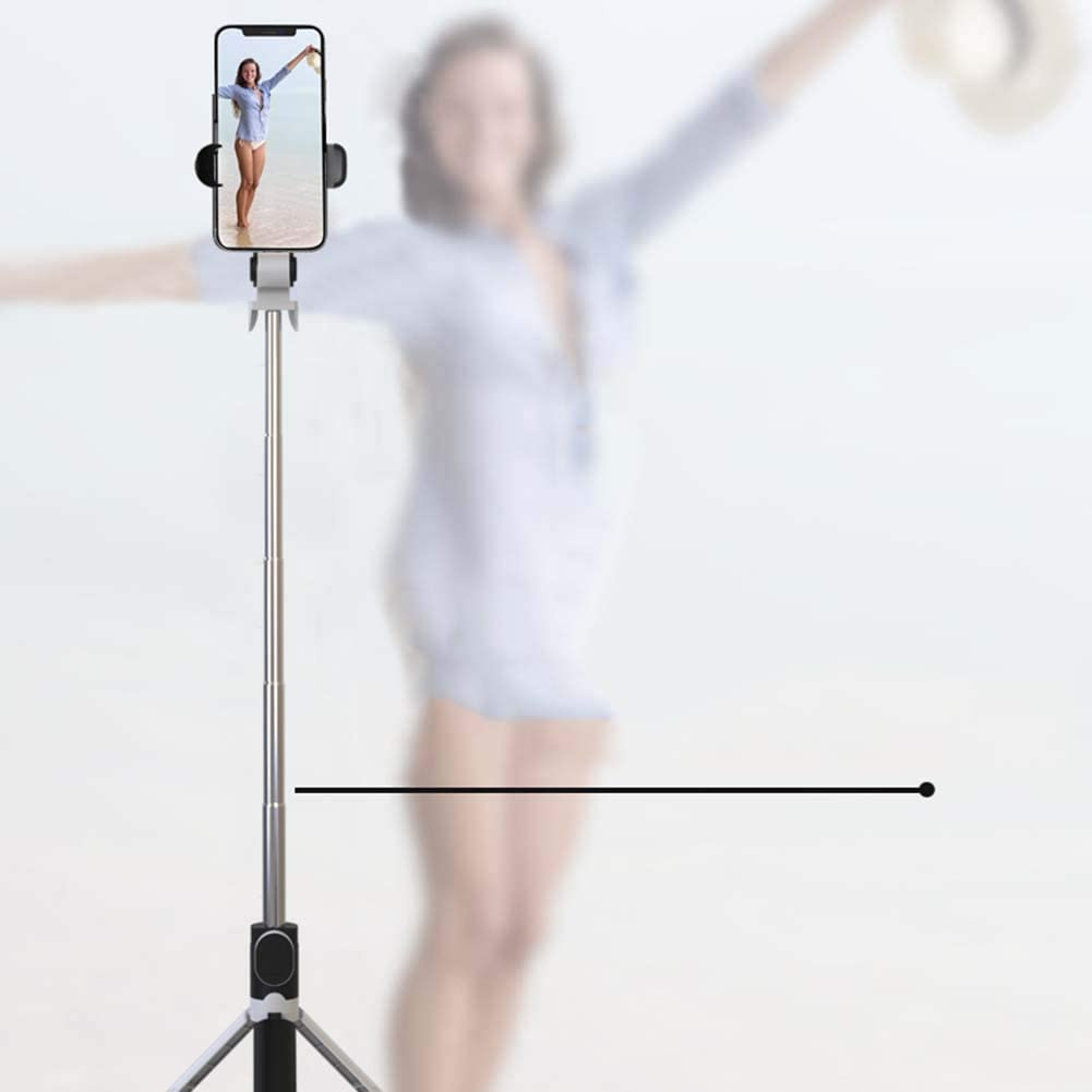 SHENXIAOMING Professional Selfie Stick Bluetooth Wireless Remote Controlled Tripod Monopod Selfie Stick Holder Widely Compatible with iOS and Android Phones,Black