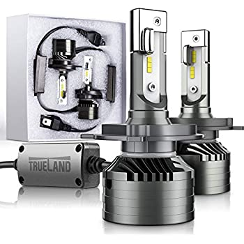 H4/9003 LED Headlight Bulb Conversion Kit 10000LM Super Bright 6000K 9003 HB2 LED Headlamp Bulb H4 Hi/Lo Beam Upgraded Anti-Flickering Canbus Decoder Top ...