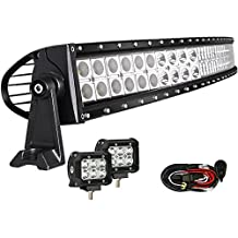 42 Inch Curved Light Bar, Enk Waterproof 240W Led Light Bar, 42 Curved Led Light Bar for Jeeps, 4x4, Cars, Trucks, SUVs, ATVs, Boats