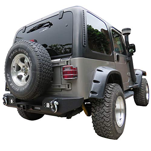 Vijay Jeep Front and Rear Bumper With 1 120W LED Long Light and 6 LED Lights For 87-06 Jeep Wrangler TJ/YJ&Unlimited by Vijay (Image #5)