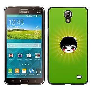 // PHONE CASE GIFT // Duro Estuche protector PC Cáscara Plástico Carcasa Funda Hard Protective Case for Samsung Galaxy Mega 2 / Triste Emoji /