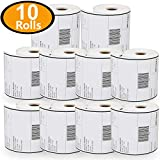 10 Rolls Dymo 1744907 Compatible 4XL Internet Postage Extra-Large 4'' x 6'' Shipping Labels,Strong Permanent Adhesive, Perforated