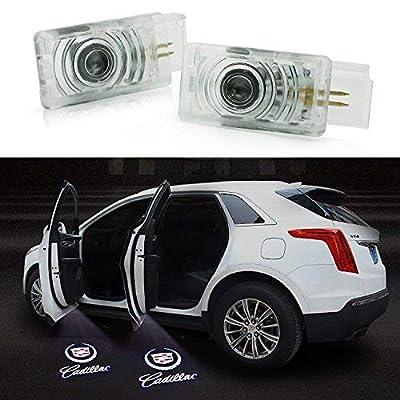 Soondar 2 pcs Universal Wireless Car Projection LED Projector Door Shadow Light Welcome Light Laser Emblem Logo Lamps Kit, No Drilling: Automotive [5Bkhe1001570]