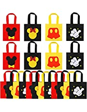20 Pcs Mickey Mouse Favor Bags, Mickey Treat Candy Goodie Gift Non-woven Bags Reusable for Baby Birthday Party Supplies Baby Shower Mickey Mouse Theme Party Decorations