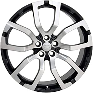 """Partsynergy Replacement For 22"""" Rim Fits 1999-2017 Land Rover Range Rover Style Black Machined 22x10 Aluminum Wheel"""