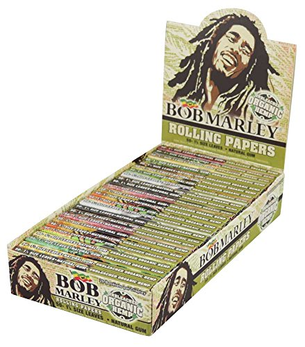 25PC Bob Marley Rolling Papers Organic Hemp 1 1/4