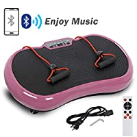HomGarden Vibration Platform Fitness Vibration Plates Workout Massage Machine, Full Body Crazy Fit Exercise Equipment for Weight Loss w/Bluetooth