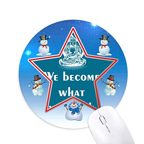 Thinking Change Hope Tradition Snowman Mouse Pad Round Star Mat