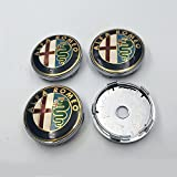 "Hanway 4pcs 60mm 2.36"" Car Styling Accessories Emblem Badge Sticker Wheel Hub Caps Centre Cover ALFA ROMEO 4C Spider 147 GTA Giulietta"
