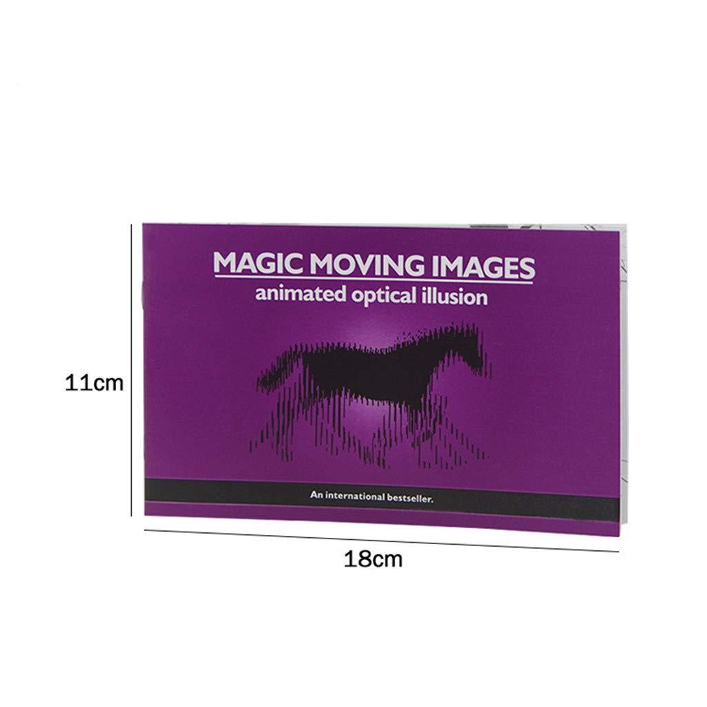 JIACUO Versi/ón m/ás Gruesa Im/ágenes en Movimiento m/ágicas Libros Trucos de Magia Accesorios Juguetes Ilusiones /ópticas animadas Regalos para ni/ños