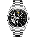 TEVISE Mens Watch Automatic Wrist Fashion Casual Mechanical Wristwatch (Black)