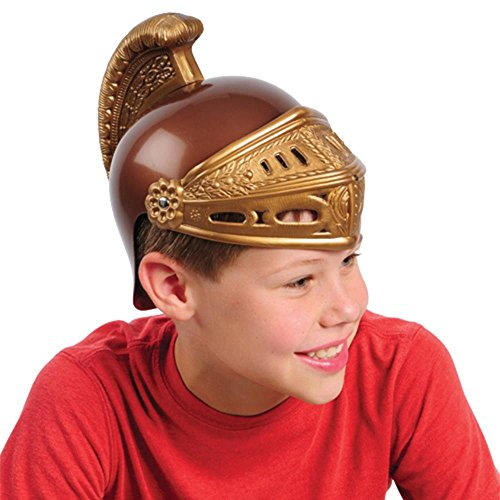 One ROMAN LEGION TOY PLASTIC HELMET - Authentic Molding - Costume Prop Accessory -
