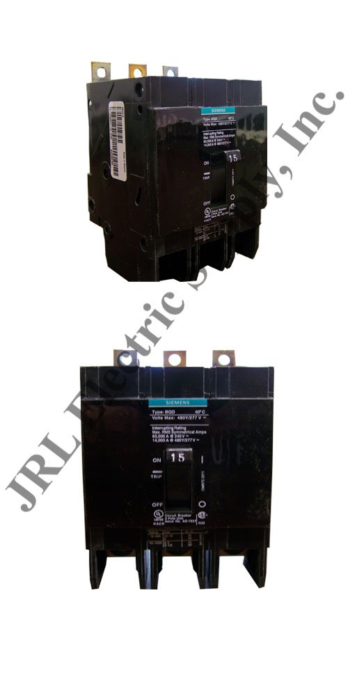 Siemens BQD315 15-Amp Three Pole 480Y/277V AC 14KAIC Bolt in Breaker