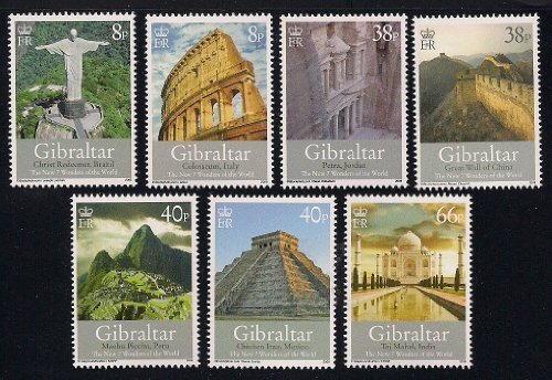 The New 7 Wonders of the World Collectible Postage Stamps