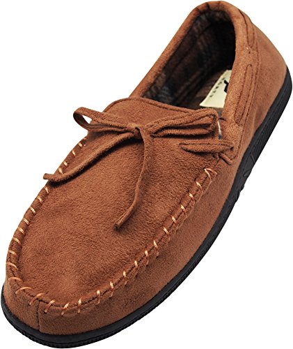 - NORTY Mens Faux Suede Moccasin Stitching, Chestnut 40018-X-Large