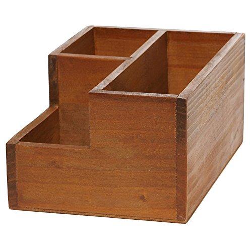 Chris Wang Multifunctional 3 Compartment Wooden Desktop