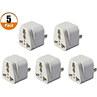 5 Pack Universal International Travel Plug Adapters 3 pin AU Converter US/UK/EU Universal to AU Plug Charger for…
