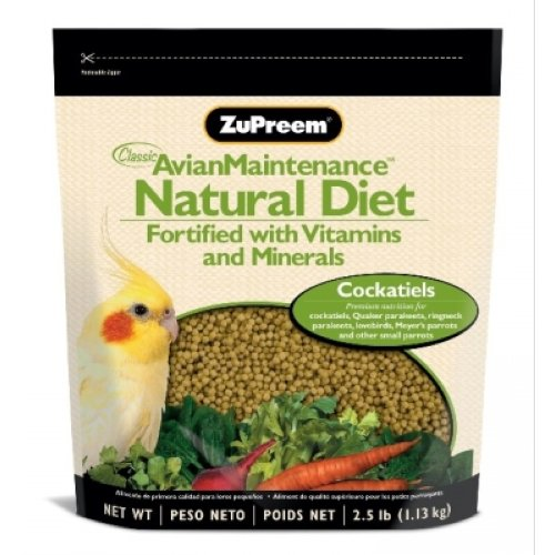 ZUPREEM 230353 Natural Medium Bird Food, 2.5-Pound, My Pet Supplies