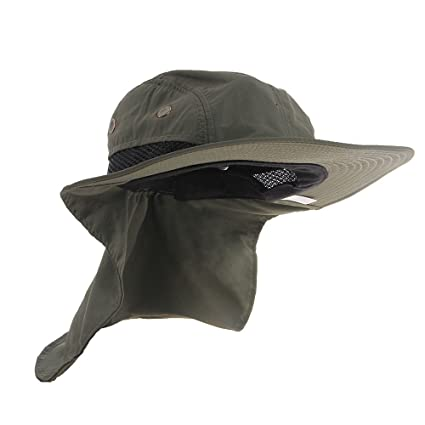 35972903e7f UV Protection Outdoor Sun Snap Hat Neck Flap Ear Cover Wide Brim Sun Cap ( Army