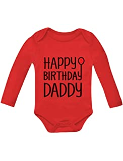 Tstars Happy Birthday Daddy Cute Boy Girl Infant Dads Gift Baby Long Sleeve Bodysuit