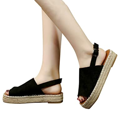 5a95c0b1c38 Amazon.com: Gibobby Sandals for Women Wide Width, Espadrille Wedge ...
