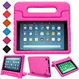 BMOUO Kids Case for All-New Fire HD 8 2018 - Shock Proof Light Weight Convertible Handle Stand Protective Cover Kid-Proof Case for Amazon Fire HD 8 (8th Generation, 2018 Release), Rose