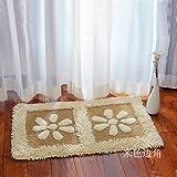 Home mats at toilet water-absorbing mats kitchen door mat bathroom mat -5080cm Khaki