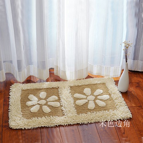 Home mats at toilet water-absorbing mats kitchen door mat bathroom mat -5080cm Khaki by ZYZX