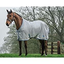 Saxon Mesh Standard Neck Fly Sheet 78 Gray/Blue/Go