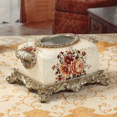 cajas de pañuelos de tejido de la caja de la boda de la antigüedad cajas de