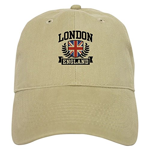 CafePress London England Baseball Cap with Adjustable Closure, Unique Printed Baseball Hat Khaki