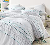 Byourbed Threads Textured Twin Duvet Cover - Oversized Twin XL - Gray/Teal