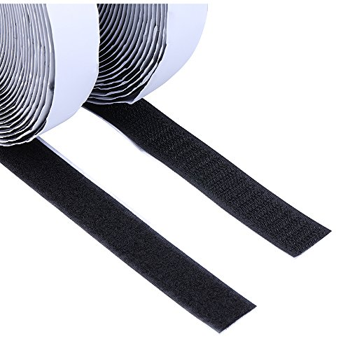 Hook Loop Fasteners - I-MART Self Adhesive Hook and Loop Tape Roll, Sticky Back Strip Fastener Fabric Tape, 0.79 InchesX36 Feet (Sticky Back)
