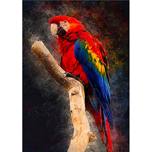 Red Cockatoo - Leguliya DIY 5D Diamond Painting The Red Cockatoo Landscape Full Circular Diamond Embroidery Cross Stitch Rhinestone Home decor-30x40cm