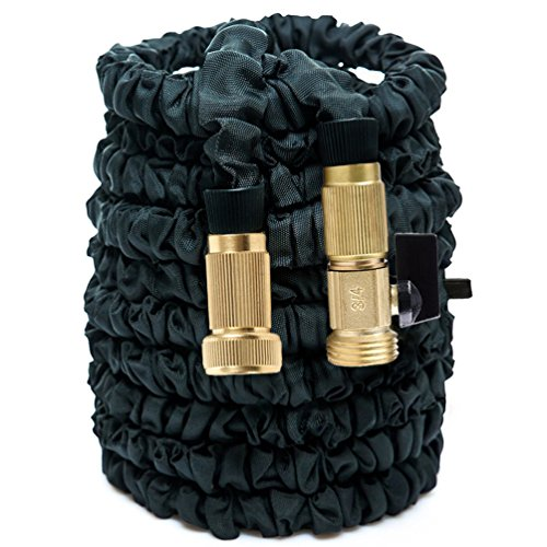 HOAEY 100ft Expanding Hose, Flexible Garden Expandable Water Hose with Pipe Brass Fittings for Car Garden ( 100 Feet )