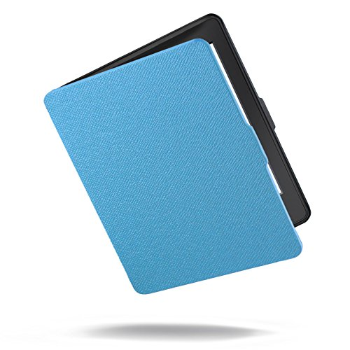 INFILAND Kindle Paperwhite Case Ultra Lightweight Shell Smart Cover for All-New Amazon Kindle Paperwhite (Fits All Versions: 2012, 2013, 2014 and 2015 New 300 PPI)- Blue