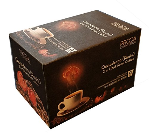 Ganoderma (Reishi) Single Serve K-cup Pods for Keurig Brewers Dark Roast Coffee