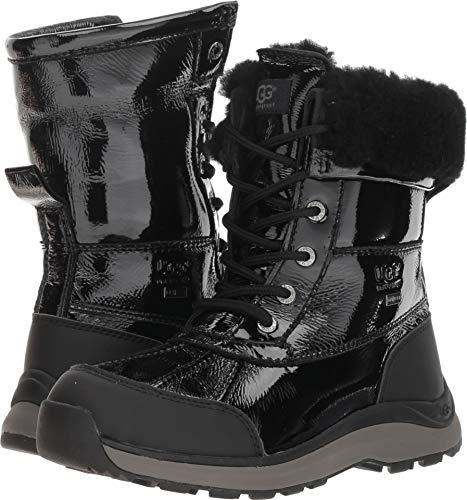 (UGG Women's W Adirondack Boot III Patent Snow, Black, 8 M US )