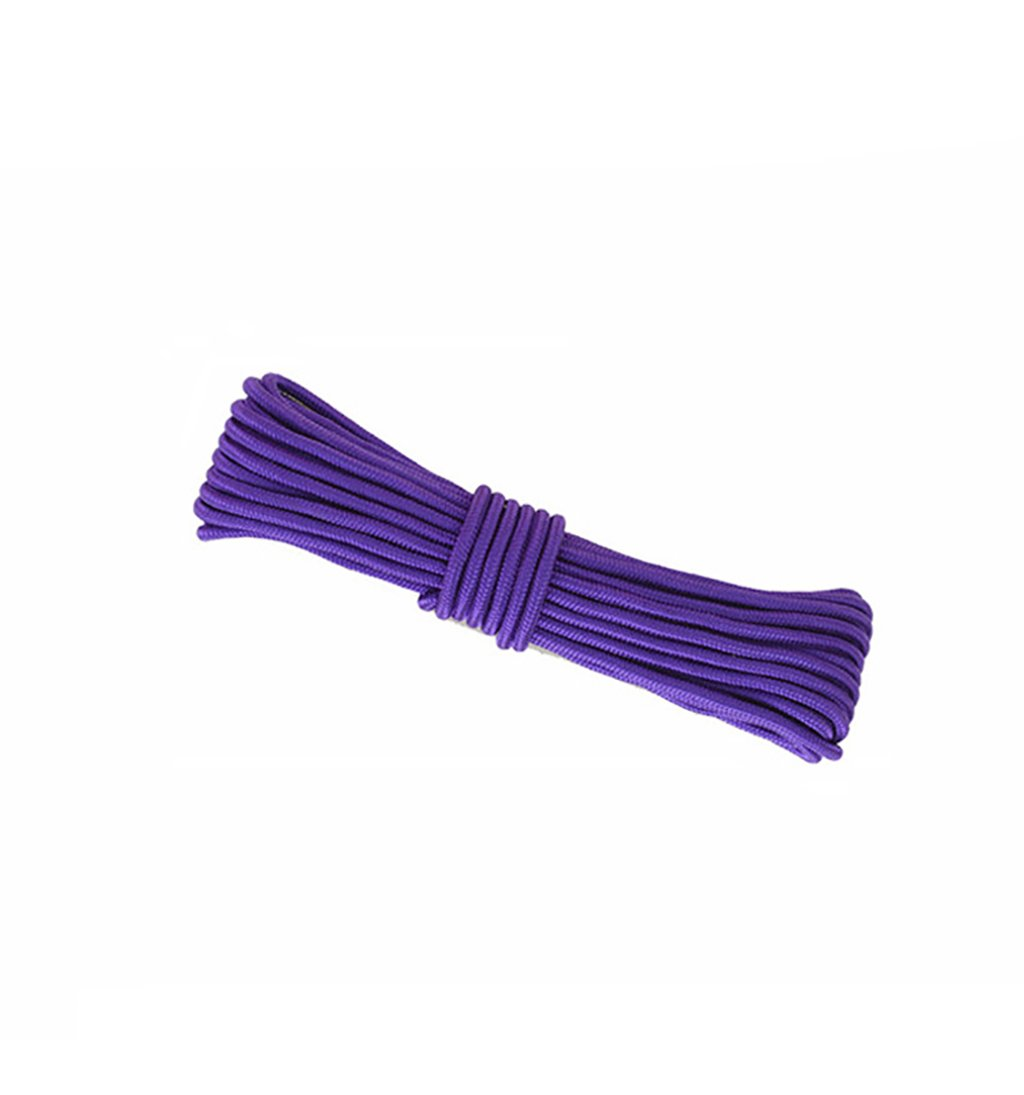 Webb climbing rope,Purple 10M, 20M, 50M, 100M, Rock Climbing Rope,diameter 8mm/10mm Outdoor Explore Escape rescue Rope,High Strength nylon rope Safety Rope (Color : Diameter-8mm, Size : 10M)