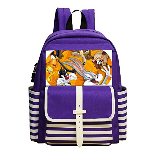 Looney Tunes Student Backpack School Bag Super Bookbag Break