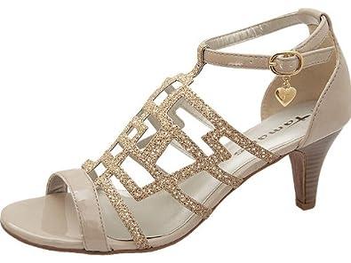 info for cf6e5 93290 Tamaris Sandalette Gold - Sandalette - gold , Schuhgröße 42 ...