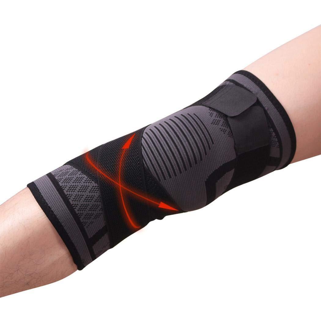 cerjuge 1 Paar Gelenkstütze Knieschützer, Knieschützer, Power Lift Federkraft, Sehnenschoner Band Pad für Arthritis