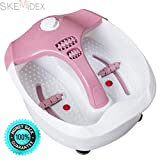 SKEMiDEX---Portable Foot Spa Bath Massager Bubble Heat HF Vibration Red Light Relax Health. Ideal for Athletes & People Who Work on Their Feet Constant Heating, Bubbling Massage Red Light Exposure