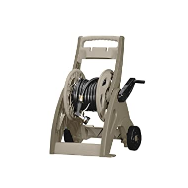 Suncast Hose Reel Cart. Best Hosemobile Wheeled Caddy For Flexible Water Pipe. Lightweight & Portable Holder. Perfect For Garden, Yard, Backyard, Patio, Poolside, Lawn Cleaning & Car Wash. Space saver