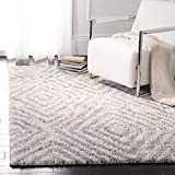 Safavieh BER218A-9 Berber Shag Collection BER218A Cream and Grey Area (9′ x 12′) Rug Review