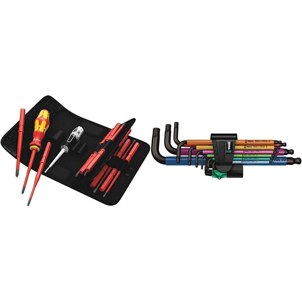 langlebiger Marker mit Spitzer und Halteclip 05003484001 /& Pica Tieflochmarker Dry Longlife gr/ün 3030.0 16-teilig Wera Werkzeug-Set Kraftform Kompakt VDE 60 iS65 iS67 iS16 Art.-Nr