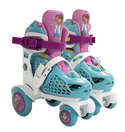 PlayWheels Disney Doc McStuffins Kids Big Wheel Quad Roller Skates - Junior Size 6-9