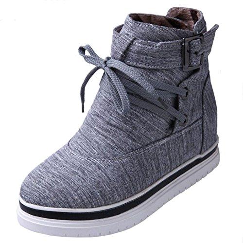 KemeKiss Winter Casual Platform High Grey Ankle Autumn Dress Women Boots rFnPXx5r